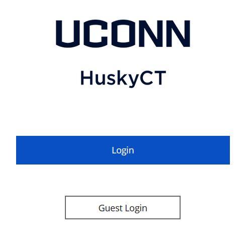 HuskyCT Login Page